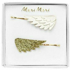 Glitter Wing Hair Slides