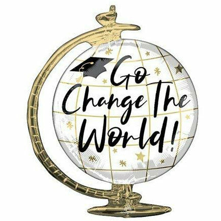"Go Change the World Globe Jumbo 23"" Mylar Balloon"