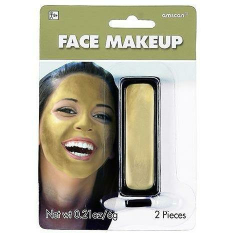 Gold Face Paint Makeup