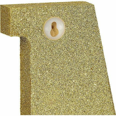 Glitter Gold Number 4 Sign