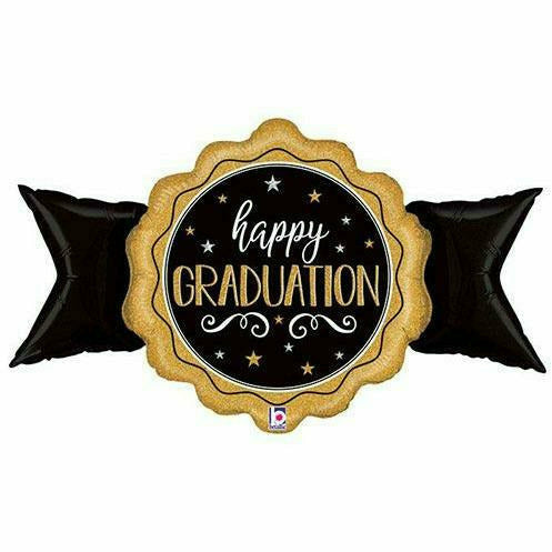 "Happy Graduation Seal Jumbo 39"" Mylar Balloon"