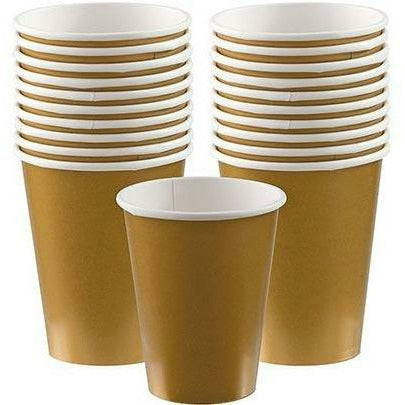 Gold Paper Cups 20ct