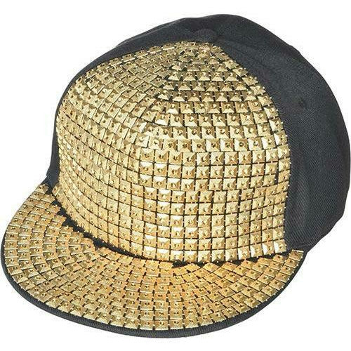 Gold Studded Hip Hop Hat