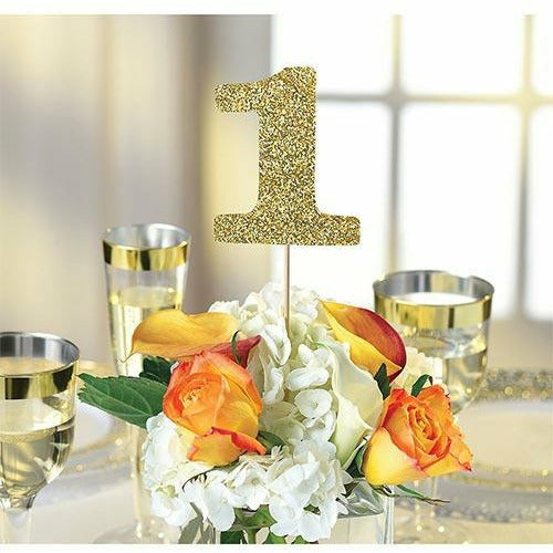 Gold Table Number Centerpiece Sticks 1-12