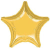 "023 Gold Metallic Star 19"" Mylar Balloon"