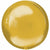 "089A Gold Orbz 16"" Mylar Balloon"