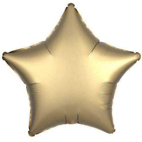 "002 Gold Sateen Luxe Star 19"" Mylar Balloon"