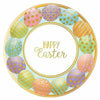 Golden Easter Egg Dessert Plates 8ct