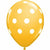 "White Polka Dots Goldenrod 11"" Latex Balloon"