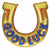 "*A013 Horse Shoe Good Luck Jumbo 38"" Mylar Balloon"
