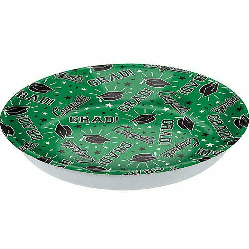 Green Congrats Grad Serving Bowl