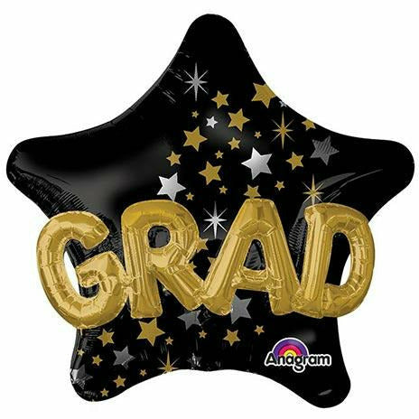 "Graduation Star Jumbo 36"" Mylar Multi-Balloon"