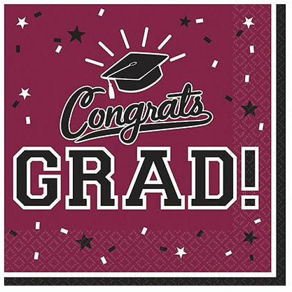 Berry Congrats Grad Lunch Napkins 36ct