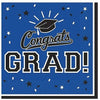 Blue Congrats Grad Lunch Napkins 36ct