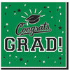 Green Congrats Grad Lunch Napkins 36ct