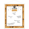 Orange Graduation Sign-In Sheet