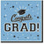 Pastel Blue Congrats Grad Lunch Napkins 36ct