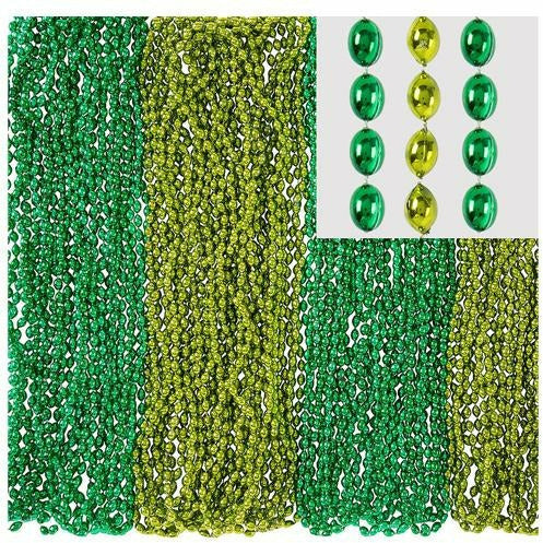 Green Bead Necklaces product details:  100 per package Each measures 30in long Plastic