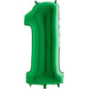 "40"" Green Number Mylar Balloon"