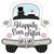 "*A007 Car Happily Ever After Jumbo 31"" Mylar Balloon"