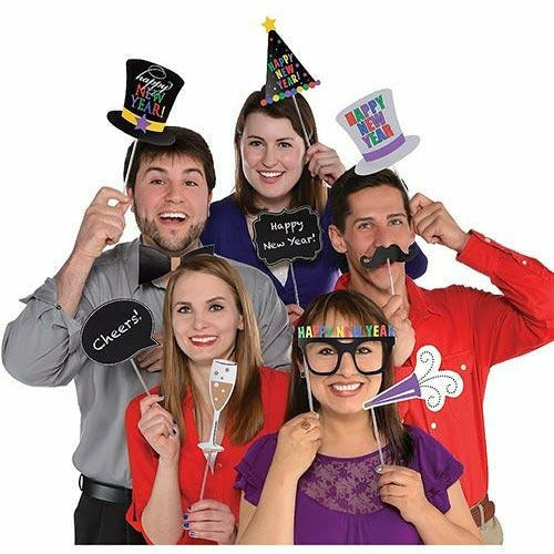 Happy New Year Photo Booth Props 13ct