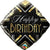 "470 Black and Gold Happy Birthday 18"" Mylar Balloon"