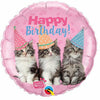 "314 Kitty Cats Happy Birthday 18"" Mylar Balloon"