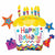 "C006 Birthday Cake Happy Birthday Jumbo 28"" Mylar Balloon"