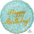 "436 Prismatic Confetti Happy Birthday 18"" Mylar Balloon"