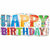 "Happy Birthday Type Jumbo 33"" Mylar Balloon"