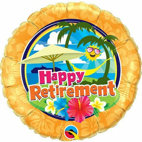 "599 Happy Retirement 18"" Mylar Balloon"