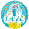 "H002 Ice Cream Happy 1st Birthday 18"" Mylar Balloon"