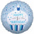 "485 Blue Cupcake Happy 1st Birthday 18"" Mylar Balloon"