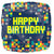 "Happy Birthday Pixels 17"" Mylar Balloon"