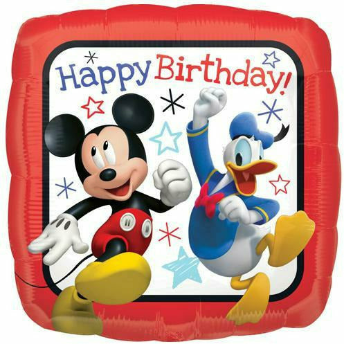 "B012 Mickey Mouse Happy Birthday 17"" Mylar Balloon"