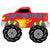 "210 Happy Birthday Monster Truck Jumbo 40"" Mylar Balloon"