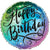 "442 Rainbow Ombre Happy Birthday 17"" Mylar Balloon"
