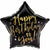 "453 Black Star Happy Birthdayto You 17"" Mylar Balloon"