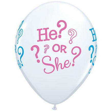 "Baby He or She 11"" Latex Balloon"