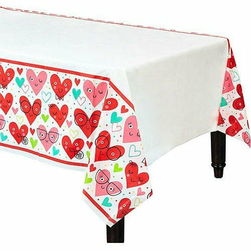 Heart Face Table Cover