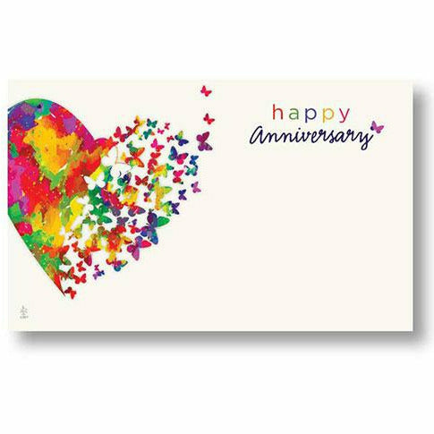 Happy Anniversary Hearts Aflutter Card