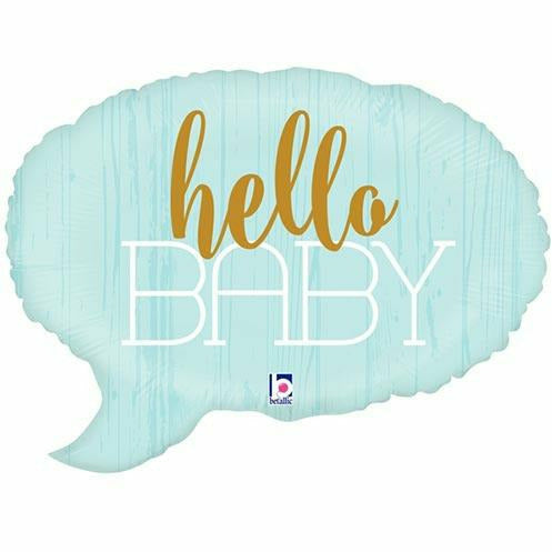 "511 Hello Baby Blue Jumbo 24"" Mylar Balloon"