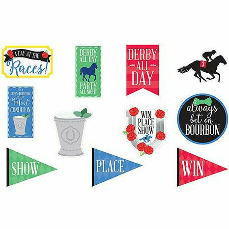 Horse Racing Derby Day Cutouts 11ct