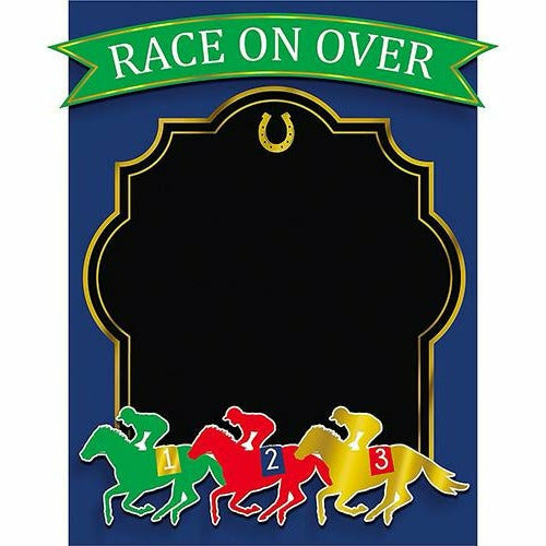 Horse Race Chalkboard Sign