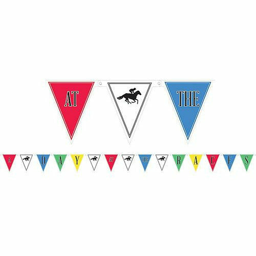Horse Racing Derby Day Pennant Banner