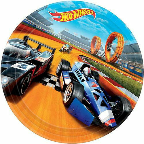 Hot Wheels Lunch Plates 8ct