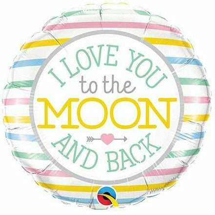 "535 I Love You to the Moon and Back 18"" Mylar Balloon"