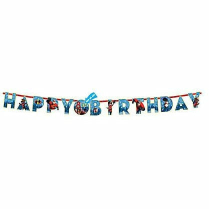 Incredibles 2 Birthday Banner Kit