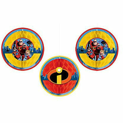 Incredibles 2 Honeycomb Balls 3ct