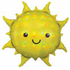"319 Iridescent Smiley Face Sun Jumbo 27"" Mylar Balloon"